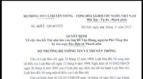Thu hồi thẻ nhà báo của nguyên Phó Tổng Thư ký tòa soạn Báo điện tử Thanh Niên