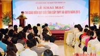 Hơn 700 giáo viên tham gia kỳ thi Giáo viên dạy giỏi cấp tỉnh 2015