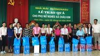 Công ty Đường Nghệ An trao 50 suất quà cho phụ nữ nghèo