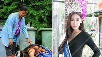 Hoa hậu Thái Lan quỳ gối trước người mẹ nhặt rác