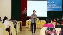 Gần 200 nữ cán bộ tham gia tập huấn nâng cao năng lực