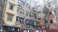 Khu A chung cư  Quang Trung xuống cấp nghiêm trọng