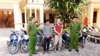 Bắt 3 đối tượng trộm cắp xe máy