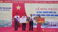 Các xã Diễn Phong, Nghĩa Hòa đón Bằng công nhận đạt chuẩn nông thôn mới