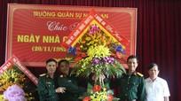 Bộ CHQS tỉnh: Chúc mừng các trường học nhân ngày nhà giáo Việt Nam