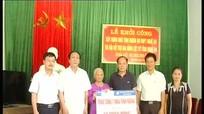 Thị xã Thái Hòa: Khởi công xây nhà tình nghĩa cho vợ liệt sỹ