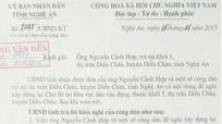 UBND tỉnh giải quyết khiếu nại: Ông Trần Quốc Phúc - thành phố Vinh, ông Nguyễn Cảnh Hợp huyện Diễn Châu