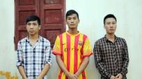 3 đối tượng trộm 9 xe máy sa lưới