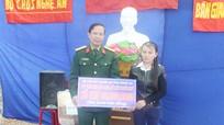 Bộ CHQS tỉnh bàn giao nhà tình nghĩa cho gia đình giáo dân xã Diễn Đoài