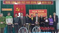 Trao 20 sổ tiết kiệm cho gia đình chính sách ở Anh Sơn