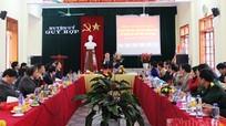 Đồng chí Hồ Đức Phớc làm việc với BTV Huyện ủy Quỳ Hợp