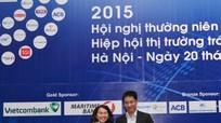 Vietcombank đạt giải Nhà tạo lập thị trường xuất sắc 2015