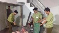 Phát hiện 200kg thịt trâu bò bốc mùi hôi thối