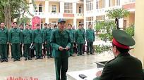 Yên Thành: Kiểm tra điều lệnh quân sự trên 90% đạt khá, giỏi