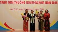 Hai nhà khoa học nữ được trao Giải thưởng Kovalevskaia 2015