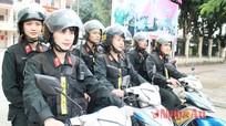 """Những """"bông hồng thép"""" của cảnh sát cơ động Nghệ An"""