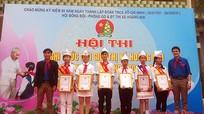 Hoàng Mai: 160 đội viên tham gia Hội thi nghi thức đội giỏi