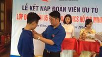 Nam Đàn kết nạp 85 đoàn viên tại Khu di tích Kim Liên
