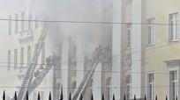 Cháy tòa nhà của Bộ Quốc phòng Nga