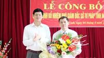 Trao quyết định bổ nhiệm Phó Giám đốc sở Tư pháp Nghệ An