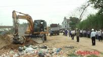 Tân Kỳ: Cưỡng chế bàn giao đất theo bản án của TAND tỉnh