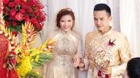 Lương Thế Thành diện áo dài đi rước cô dâu Thúy Diễm
