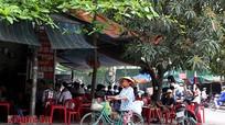 Quán cà phê ở thành phố Vinh đua nhau lấn vỉa hè, lòng đường