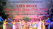 Quỳnh Lưu: Khai mạc liên hoan Tiếng hát làng sen năm 2016