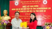Hội Chữ thập đỏ tỉnh Xiêng Khoảng (Lào) làm việc tại Nghệ An