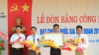 Trường THPT Nghi Lộc II đón bằng công nhận đạt chuẩn Quốc gia