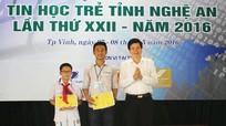 Trao giải cuộc thi tin học trẻ tỉnh Nghệ An lần thứ 22