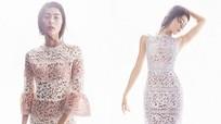 Sao Việt khoe hình thể với váy ren xuyên thấu
