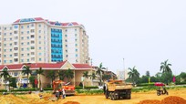Nhà thầu tiếp tục thi công đường 72m ở thành phố Vinh