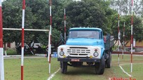 Bộ CHQS tỉnh Nghệ An: Thi bảo dưỡng vũ khí và lái xe an toàn