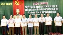 Đảng bộ Hưng Nguyên tuyên dương điển hình 'Học tập và làm theo tấm gương đạo đức Hồ Chí Minh'