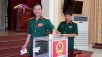 100% cử tri Bộ CHQS tỉnh hoàn thành tốt nhiệm vụ bầu cử