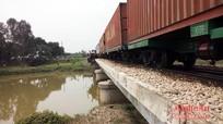 Nghệ An: Tàu hoả suýt trật bánh vì đâm phải trâu