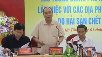 Thủ tướng Nguyễn Xuân Phúc họp ở Hà Tĩnh về việc cá chết hàng loạt