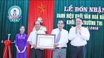 Khối 6 phường Trường Thi (TP Vinh): Đón nhận danh hiệu khối văn hóa