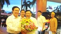 Lãnh đạo tỉnh đón Phó Thủ tướng Vương Đình Huệ thăm và làm việc tại Nghệ An