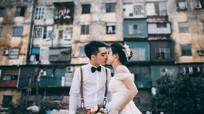 Lãng mạn với bộ ảnh cưới của đôi trẻ tại khu nhà tầng Quang Trung