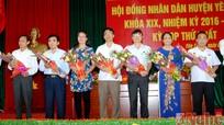 Yên Thành bầu các chức danh chủ chốt HĐND, UBND nhiệm kỳ 2016-2021