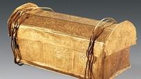 Quan tài vàng tí hon có thể chứa mảnh xương sọ Đức Phật