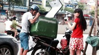 Shipper kiếm bộn tiền ngày nắng nóng