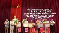 """TP. Vinh: Truy tặng 5 danh hiệu 'Bà Mẹ Việt Nam anh hùng"""""""