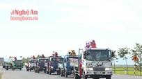 Nghệ An: Độc đáo đám rước dâu bằng xe cẩu
