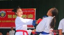 Nghệ An: 150 VĐV tranh tài đối kháng karatedo