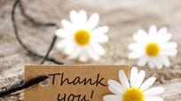 Hãy nói lời cảm ơn từ trái tim!
