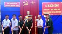 Trung đoàn 335 khởi công xây dựng Nhà đồng đội