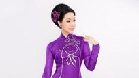 Á hậu Kim Chi diện 5 thiết kế cho lễ Vu lan